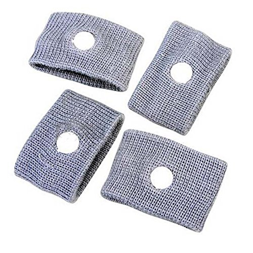 Generic 4pcs/pack Reuseable Washable Travel Wrist Bands Anti Nausea Car Auto Sea Sick Sickness Grey Brand New