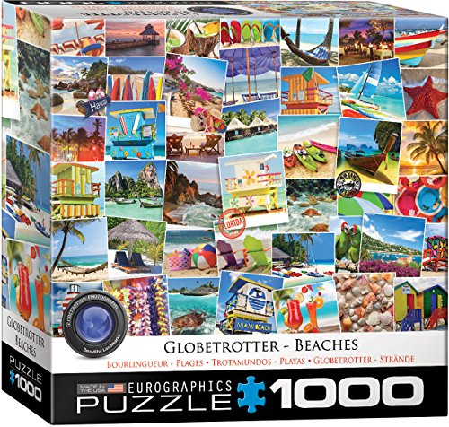 Eurographics 8000-1.932,9cm spiagge Globetrotter Puzzle da Pezzi