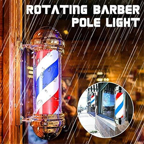 Negozio di barbiere classico 22. 5'strisce LED rotanti palo palo luce parrucchiere segno rosso bianco blu IP44 impermeabile interno/esterno