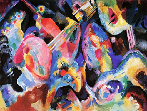 Wassily Kandinsky russo Abstract Old Master Art painting Print 30,5x 40,6cm 30x 40cm poster...