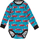 maxomorra Baby Jungen Body mit Autos Car GOTS (74)