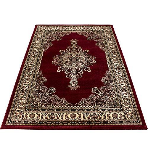 Teppium tappeto orientale orientale tradizionale medaglione orientale a macchina intrecciato a...
