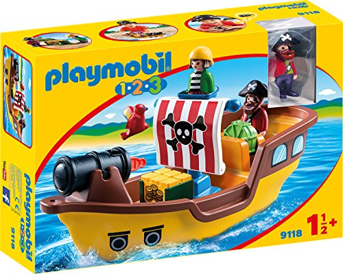 PLAYMOBIL 1-2-3(9118) - Piratenschiff