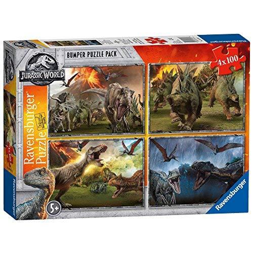 Ravensburger Jurassic World Puzzle 4X100 Pezzi, 6976
