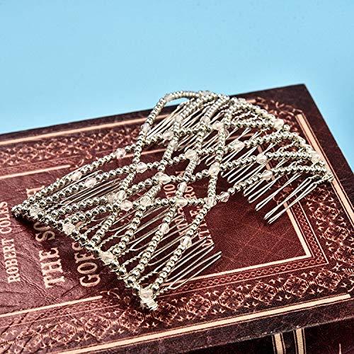 HITSAN INCORPORATION Woman Elastic Magic DIY Toll Vintage Headband Fashion Hair Maker Bun Hair Combs Metal Hairpins For Women Hair Accessories Silver