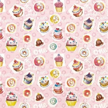 FASHION FOR HOME Home Fashion Serviette Lunch Sweet Tooth 33 x 33 cm, Multicolore, Taille Unique