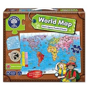 Orchard_Toys - Puzle y póster, diseño Mapa del Mundo (en inglés) [Importado de Gran Bretaña]