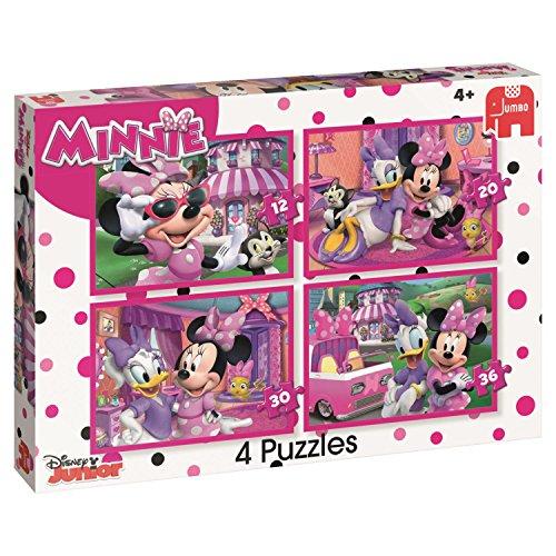 Disney 'Happy Aiutanti di Minnie 4Puzzles Box (12/20/30/pezzi)