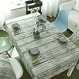 Tischdecken - Baumwolle Leinen Stoff Schmutzabweisend Waschbar Tischtuch Heissfest Zum Restaurant, Hotel, Cafe  (90x90, 100x140, 140x180, 140x200) cm