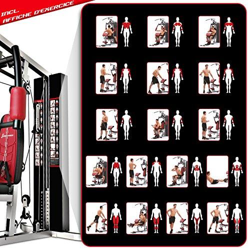 Sportstech VAINQUEUR du Test* La Station de Musculation Premium 30en1 HGX100 de pour des Variantes d'entraînement innombrables. Home-Gym Mul... 12