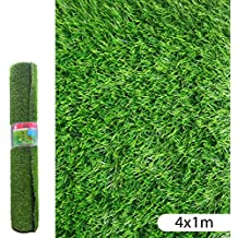 Ldk Garden Lola Derek - Césped artificial normal para terraza, 400 x 100 x 20 cm, color verde