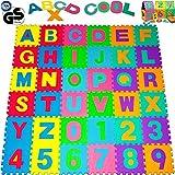 Alfombra Puzzle 86 Piezas- 3,68 m² - Alfombrilla de Juego Infantil Gomaespuma EVA resistente a la humedad, lavable, resistente de Colores Rompecabezas