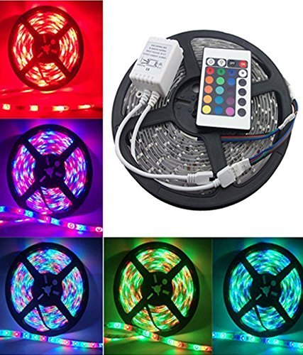RIFLECTION 5 m Waterproof Remote Control Led Strip Light for Home, Office, Diwali, Eid and Christmas Decoration -(Multicolour)