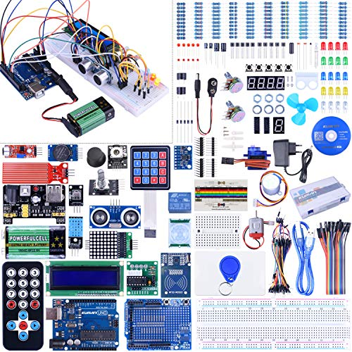 Starter Kit for Arduino-UNO Kuman Upgraded Version Full Ultimate Starter Kit for Arduino MEGA 2560 Microcontroller and Lots of Accessories for Arduino R3 MEGA2560 Nano Robot K27 (Version 2.0)