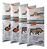 Wild Spartan Beef Jerky Probierset, Rind Classic, Rind Steakfire, Pute Classic, Pute Chili, 4er Pack (4 x 40g)