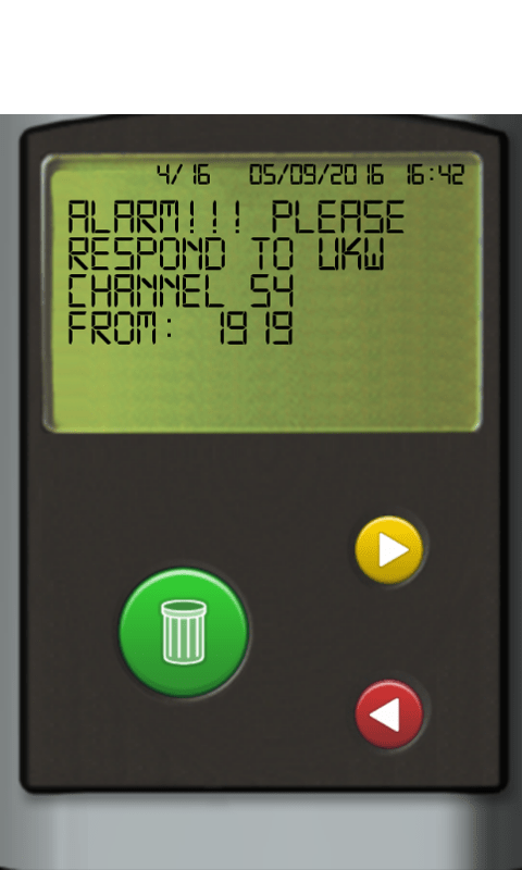 SMS pager Screenshot