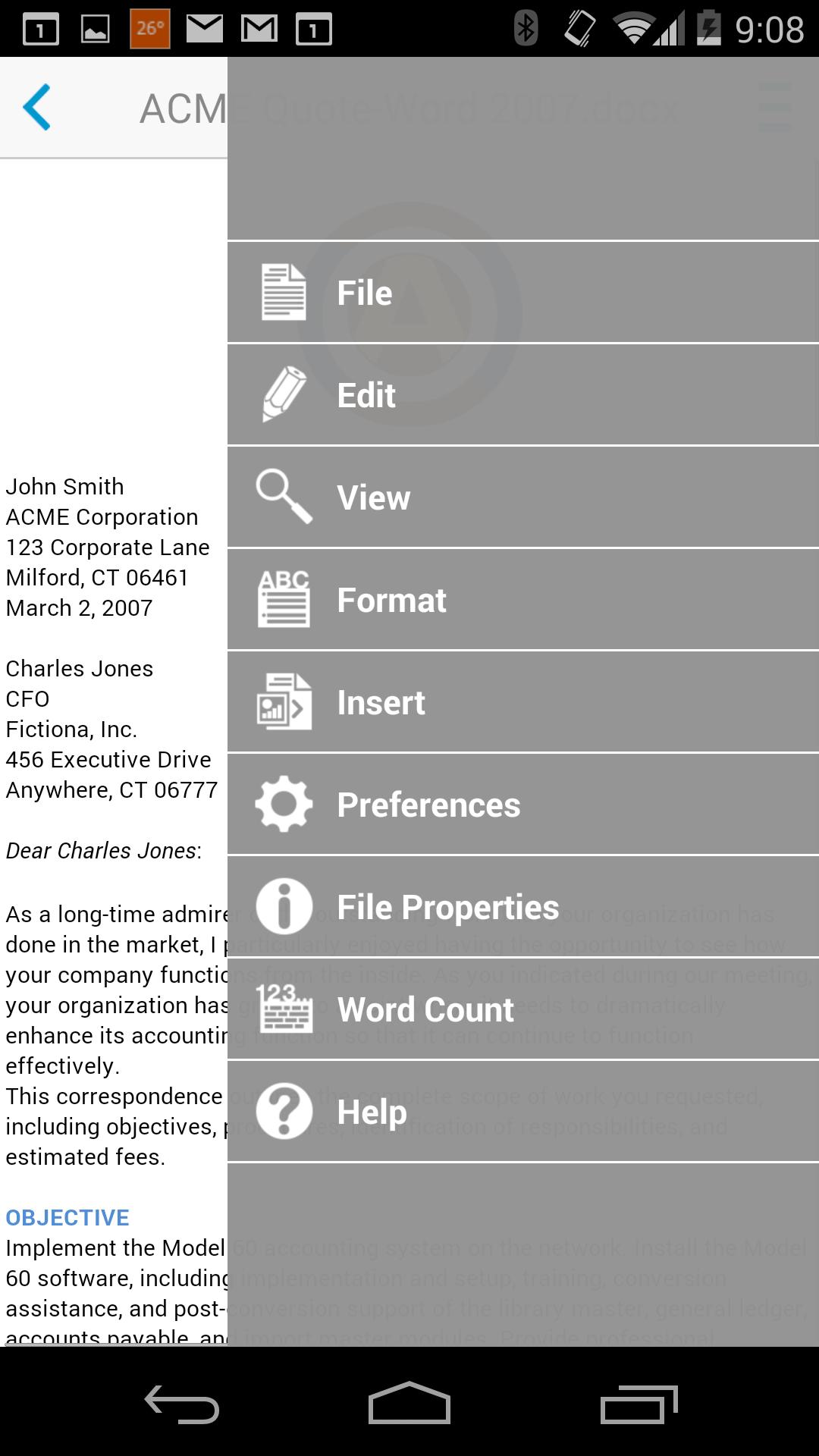 Docs To Go Premium Key Screenshot