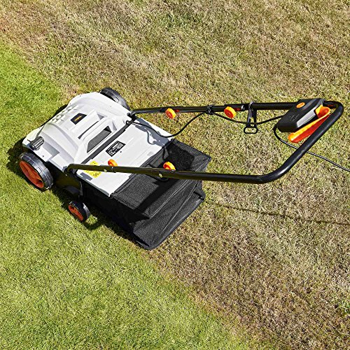 Meet the VonHaus 2 in 1 Lawn Scarifier that is efficient and convenient for all your lawn needs. Possessing a powerful 1500w motor, this electric garden scarifier is made from quality plastic and metallic parts. You can be sure that the construction is solid and that it will be able to serve you for years to come.