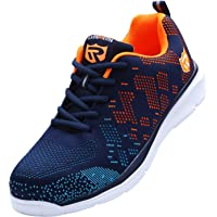 Safety Trainers for Men Women, Lightweight Safety Footwear Steel Toe Cap Shoes Breathable Safety Shoes Reflective Work Shoes Work Trainer Construction Shoes LM-112