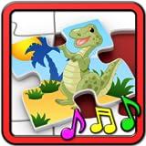 Rompecabezas de dinosaurios de cabrito - juego para niñas y niños del niño y preescolar de niños educativos