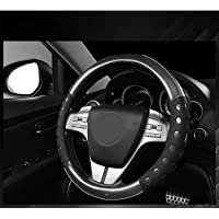 Nikavi Steering Wheel Cover - Odorless, Warmer Hands In Winter, Cooler Hands In Summer (Black)