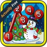 Los niños Navidad conectar los puntos rompecabezas - juego de punto a punto educativo para niños en edad pre-escolar 2 +