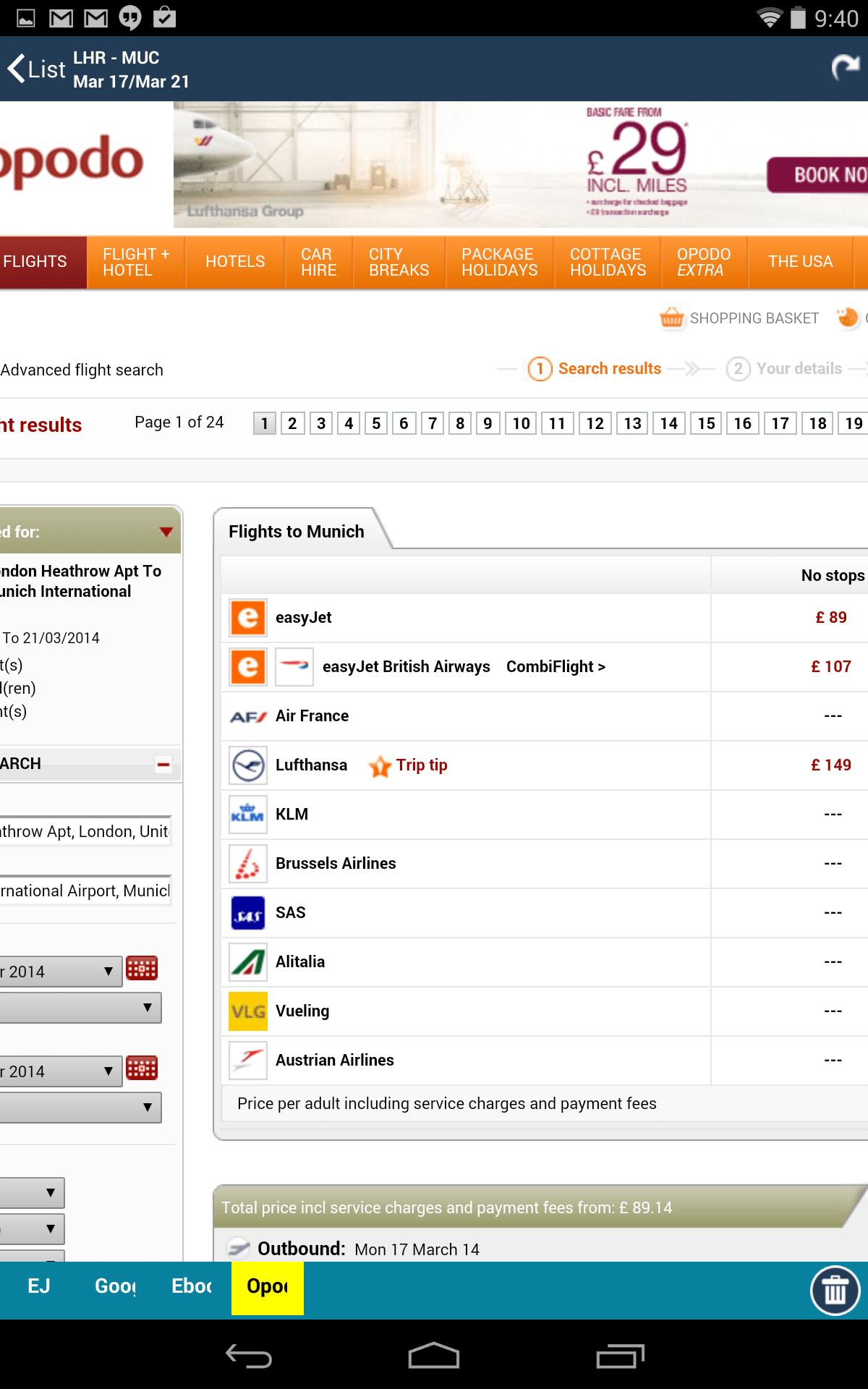 Flughafen Pro - Echtzeitstatus von Abflug und Ankunftszeiten Screenshot