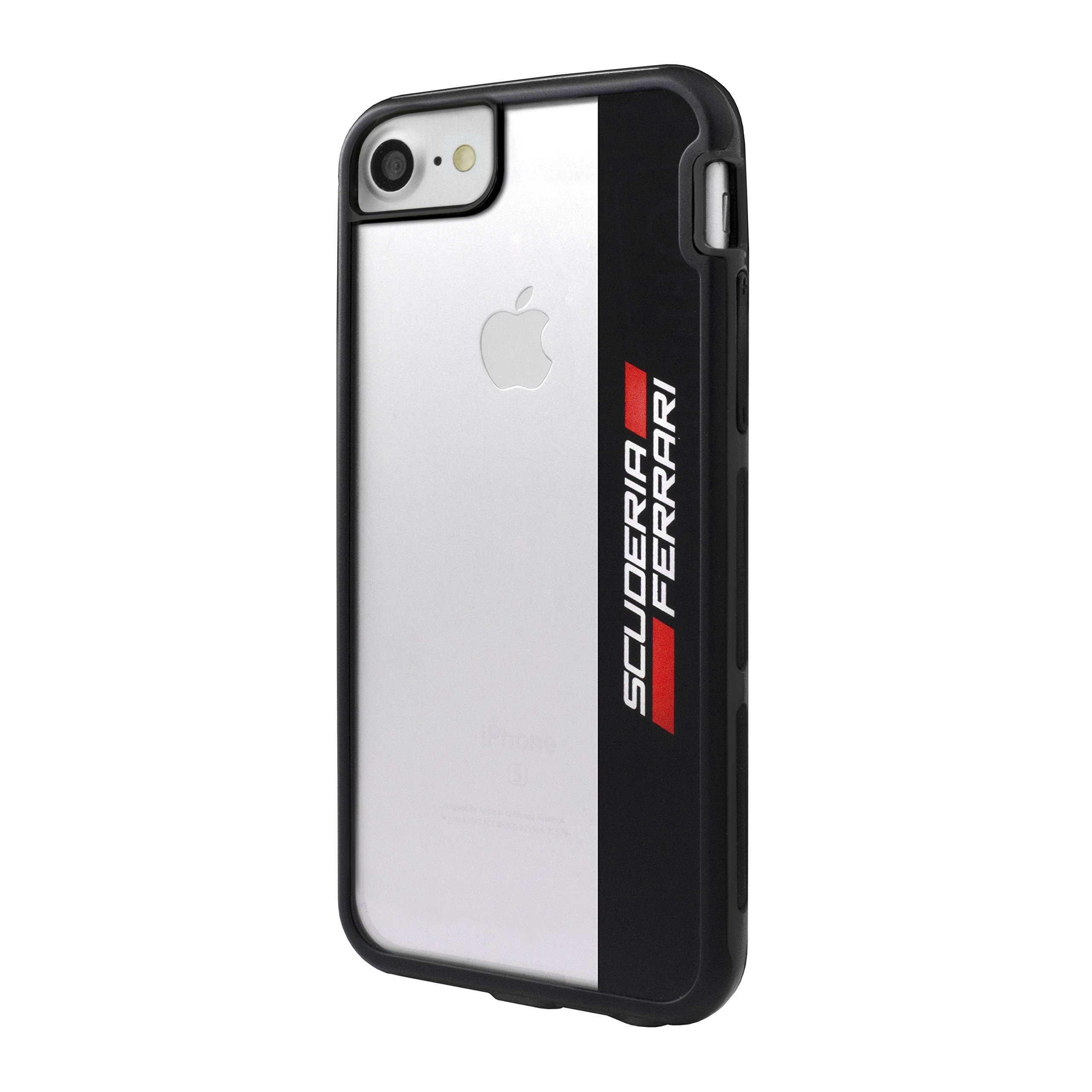 Ferrari Shockproof Hard Case with Racing Shield Design for Apple iPhone 8/7 - Bl