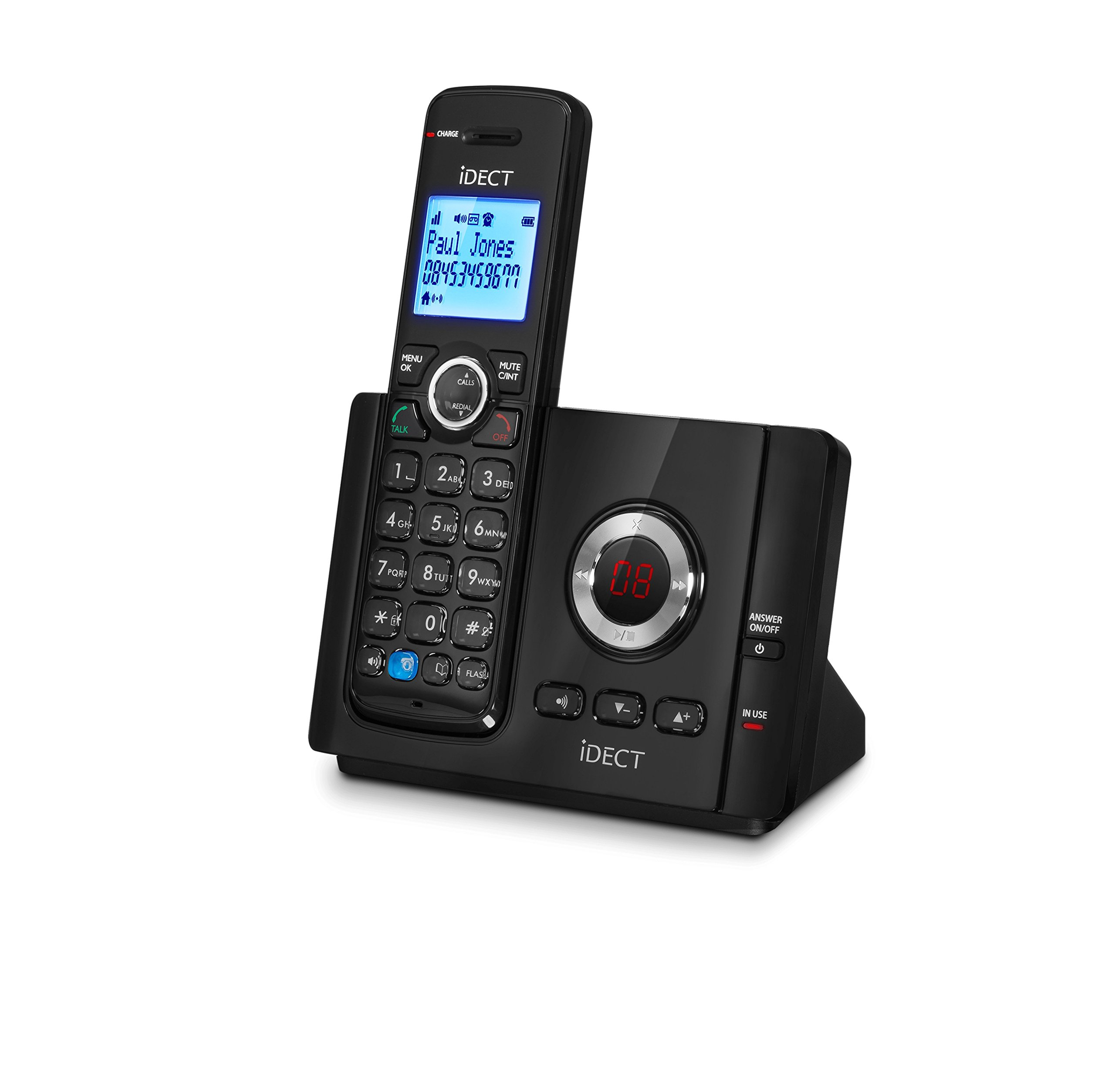 iDECT Vantage 9325 Home Phone with Call Blocker and Answer Machine Single Black