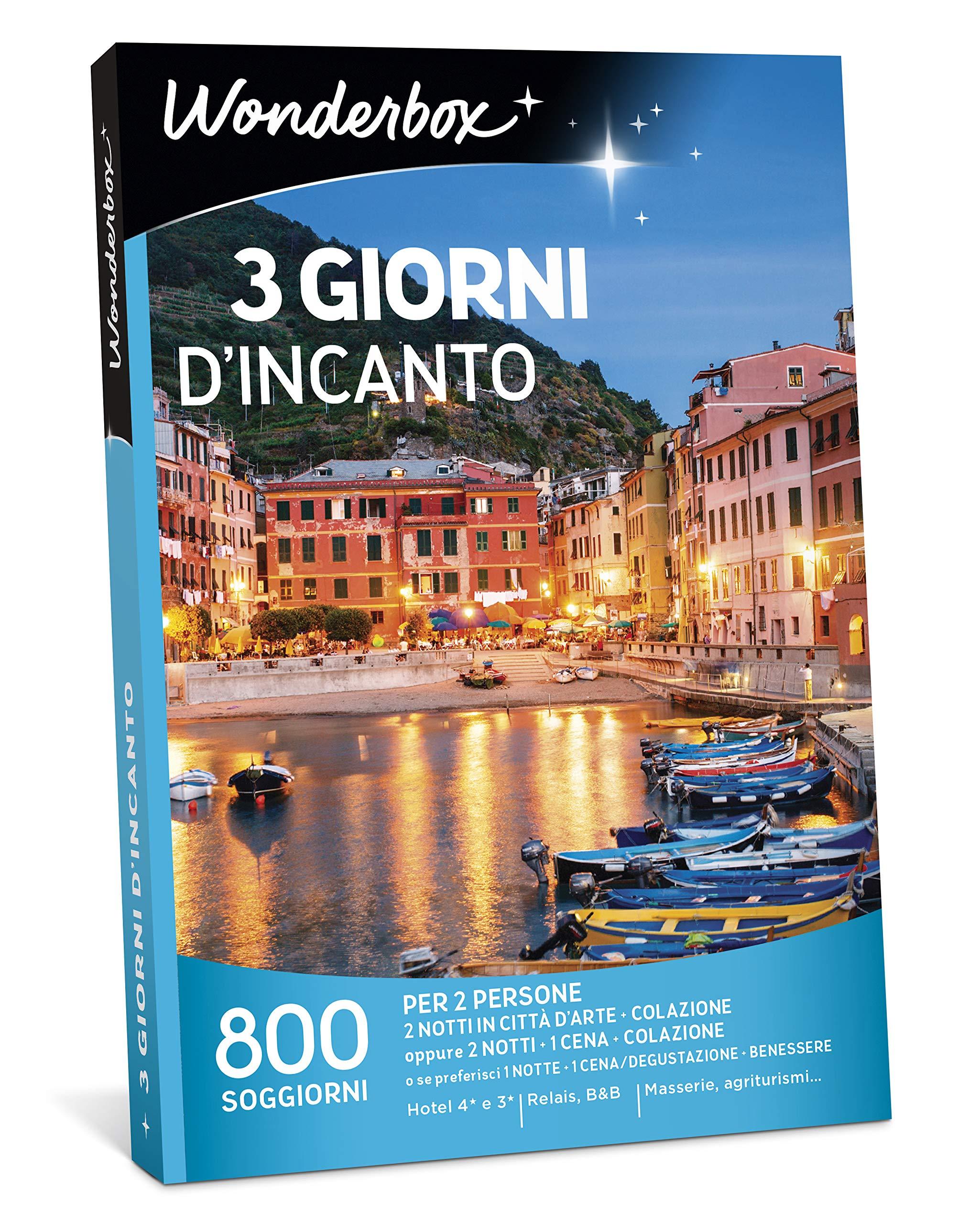 WONDERBOX - Cofanetto Regalo per Coppia- 3 Giorni D\'INCANTO - 800 SOGGIORNI  per 2 Persone