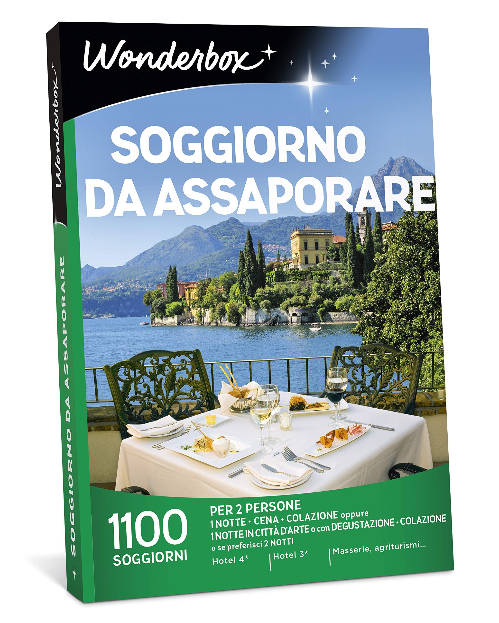 WONDERBOX Cofanetto Regalo - Soggiorno da ASSAPORARE - 1100 SOGGIORNI per 2  Persone