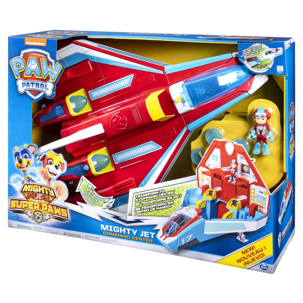 Paw-Patrol-6053098-Super-PAWs-2-in-1-Transforming-Mighty-Pups-Jet-Command-Centre-with-Lights-and-Sounds-Multicolour