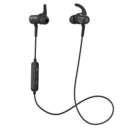 SoundPEATS(サウンドピーツ) Q34 Bluetooth イヤホン 高音質 [メーカー1年保証] apt-Xコーデック採用 人間工学設計 マグネット搭載 7時間連続再生 IPX4防滴 IP4X防塵 マイク付き ハンズフリー通話 CVC6.0ノイズキャンセリング ブルートゥース イヤホン ワイヤレス イヤホン Bluetooth ヘッドホン ブラック