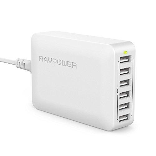 RAVPower USB充電器 (60W 6ポート) USB コンセント 急速 iPhone/iPad/Android 等対応 PSE認証 RP-PC028(ホ...