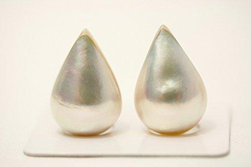 マベ真珠パールペアルース 21×14mm ホワイトカラー