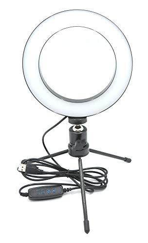 三脚付き USB 16 センチ LED リングライト スマホ撮影 照明 スマホ撮影 スタンド