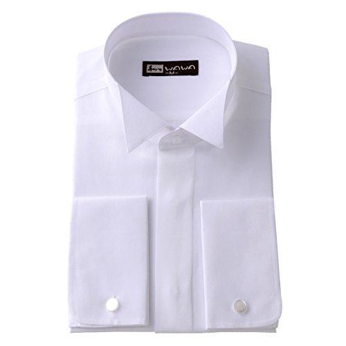 (ワワジャパン)WAWAJAPAN 結婚式に使えるウイングカラーシャツ LL K-5(ダブルカフス)