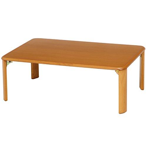 不二貿易 ローテーブル 折りたたみテーブル 90×60 ナチュラル 40141