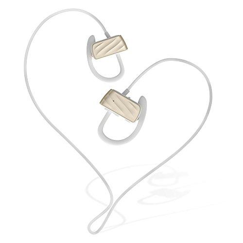 X-LIVE Bluetoothイヤホン4.1 ハンズフリー通話 ワイヤレスイヤホン(カナル型)マラソンイヤホン マイク付き 防汗 防滴スポーツ仕様 ノイズキャンセリング搭載(ゴールド)