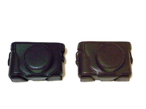 富士フイルム X10 X20 専用 高級合皮レザー カメラケース ネックストラップ,クリーニングクロス付き 【Etimオリジナル商品】FUJIFILM フジフィルム 85_1 (ブラック)
