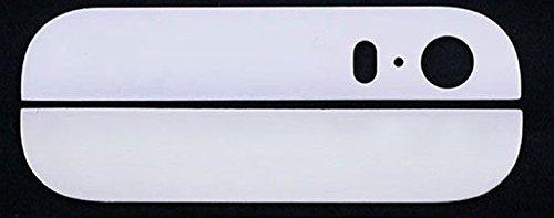Mobile Expert 【Amazon即日出荷 】iPhone 5S バック/背面ガラス 上下セット  ホワイト White  アイフォン5S + Apple純正pentalobe screw  ホワイト2個付  +iPhone5S用Screen Tape Adhesive Sticker   カスタムパーツ リペアパーツ 修理・交換用部品 i5S白