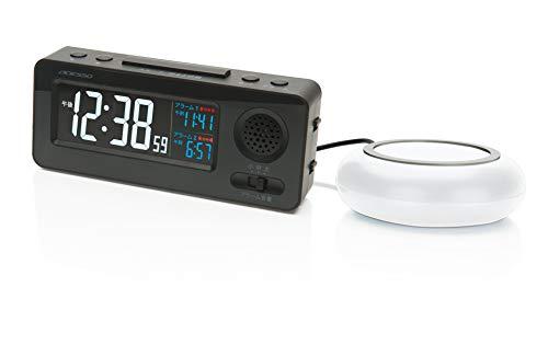 ADESSO(アデッソ) 目覚まし時計 振動式 電波時計 大音量 ブラック MY-96