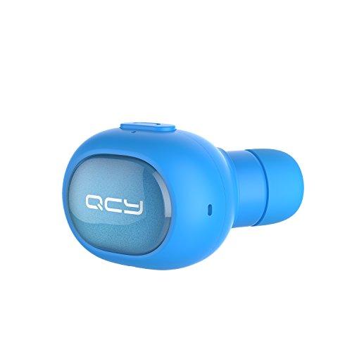 QCY Bluetooth イヤホン Q26 【QCYメーカー直販】 ワイヤレス ヘッドフォン 高音質 ブルートゥースヘッドセット ミニ型 片耳 超軽量 マイク内蔵 超小 インナーイヤー型 ハンズフリー通話 防滴仕様 技適認証済 iPhone Android などのスマートフォンに対応 ブルー