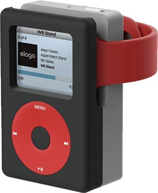 【elago】 Apple Watch 充電 スタンド シリコン 充電ドック アクセサリー ノスタルジック レトロデザイン [ AppleWatch Series5 Series4 40mm / 44mm & Series3 Series2 series1 38mm / 42mm アップルウォッチ 各種対応 対応 ] W6 STAND ブラック