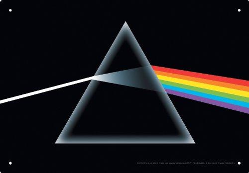 Tin Sign - Pink Floyd - Dark Side Metal Plate New Licensed Gift Toys 30027