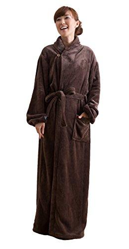 mofua ( モフア ) 着る毛布 プレミアムマイクロファイバー ガウンタイプ フリー ブラウン 50036606
