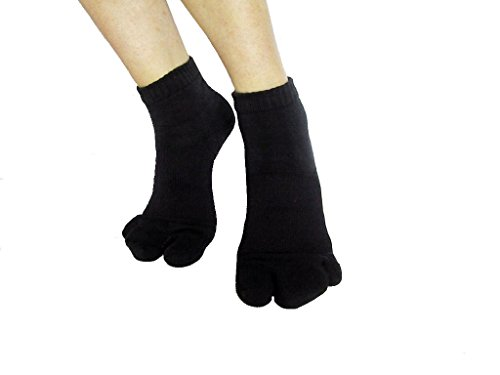 カサハラ式サポーター ホソックス3本指 テーピング靴下 ブラック M23.5-23.5cm
