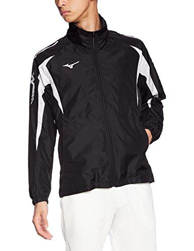 [ミズノ] トレーニングウェア ウィンドブレーカーシャツ 吸汗速乾 ドライ 男女兼用 32JE8015 09 ブラック×ホワイト M
