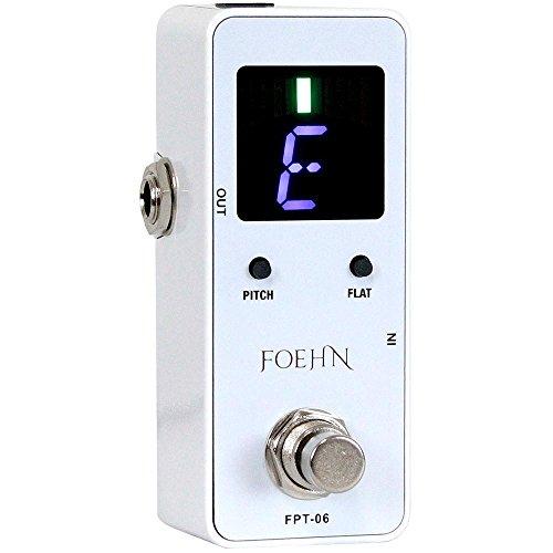 FOEHN FPT-06 White ペダルチューナー 【1,699円~!】小さくて安いチューナー特集!エフェクターボードに邪魔にならないコンパクトなミニサイズのオススメペダル型チューナー!