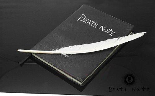 デスノート ノート (ブック+羽ペン+オリジナル販売証明ステッカー付き) コスチューム用小物 20.5cmx14.5cm